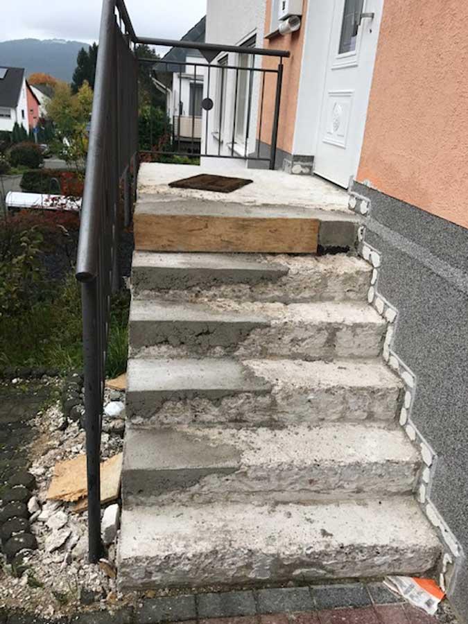 Haustreppe vorher